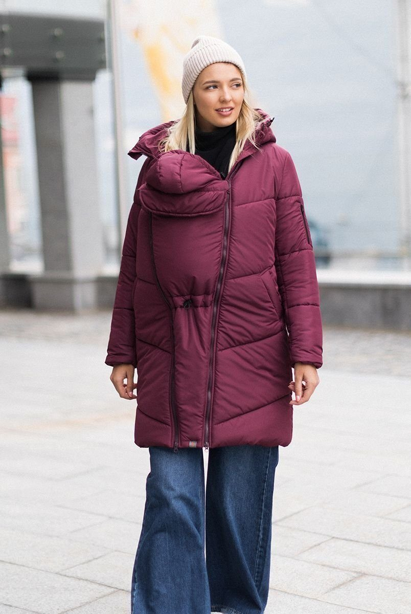 Зимняя слингокуртка 3в1 Сангрия