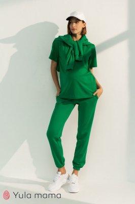 Спортивные брюки-джоггеры для беременных Celia зеленый