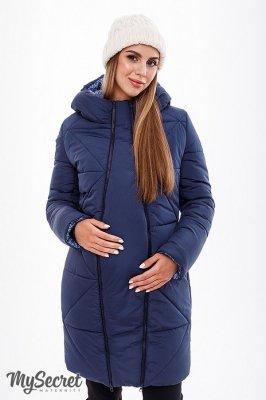 Зимнее пальто для беременных Angie синий