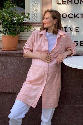 Блуза (рубашка) для беременных 1268741 пудра