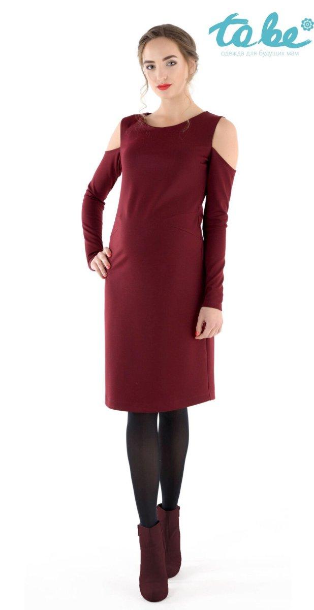Платье для беременных 1368167 бордо
