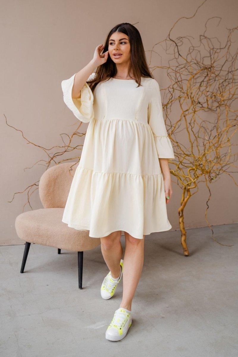 Платье для беременных и кормящих 1459735 лимонный