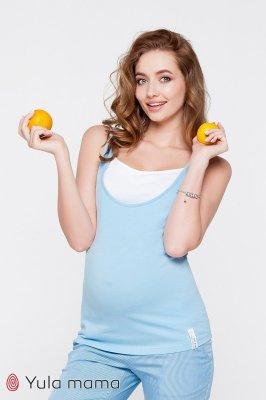 Майка для беременных и кормящих мам Tilla голубая