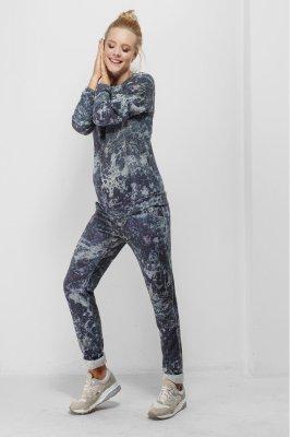 Спортивные штаны для беременных 1754-1016 синие