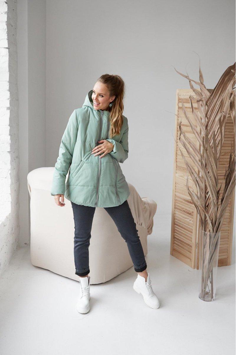 Куртка 2 в 1 Фісташкова Alexa для вагітних