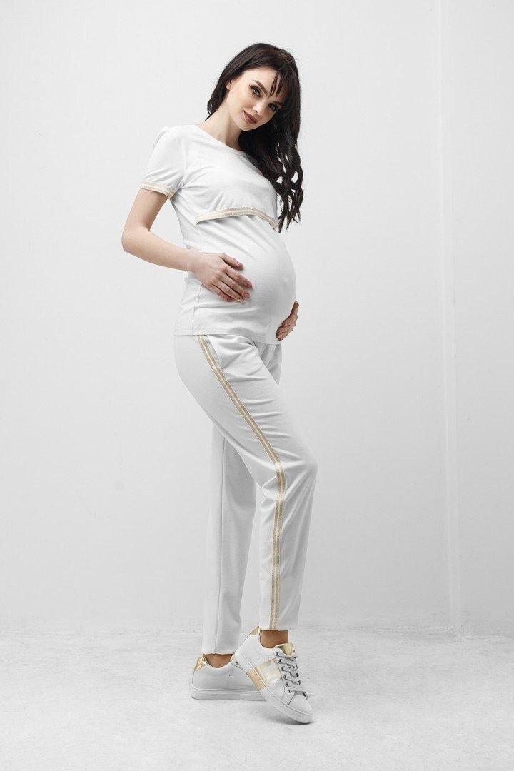 Спортивные штаны для беременных 1837 0338 белые