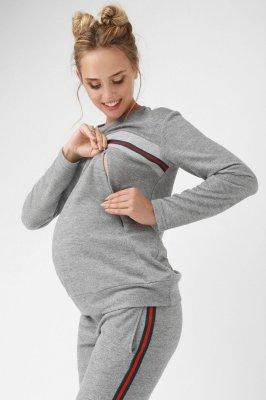 Кофта для беременных и кормящих 1861-1061 серая