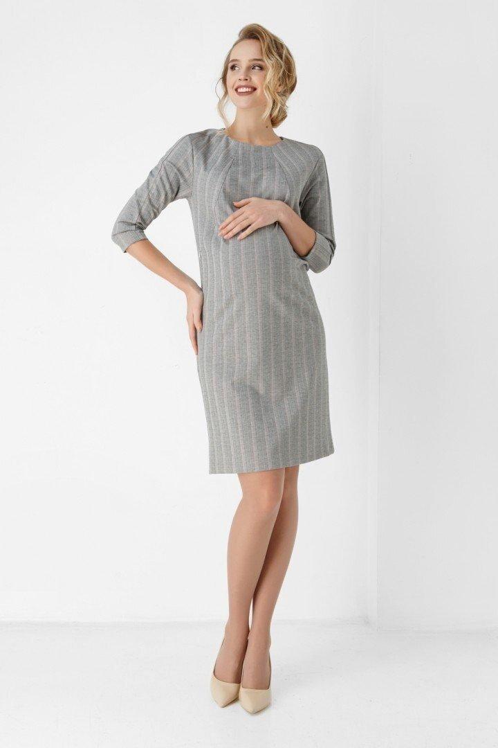 Плаття-футляр для вагітних і годуючих 1888-1067 сіре