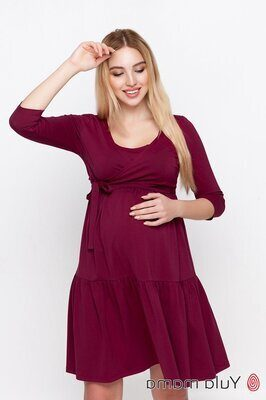 Платье для беременных и кормящих Tara бордовое