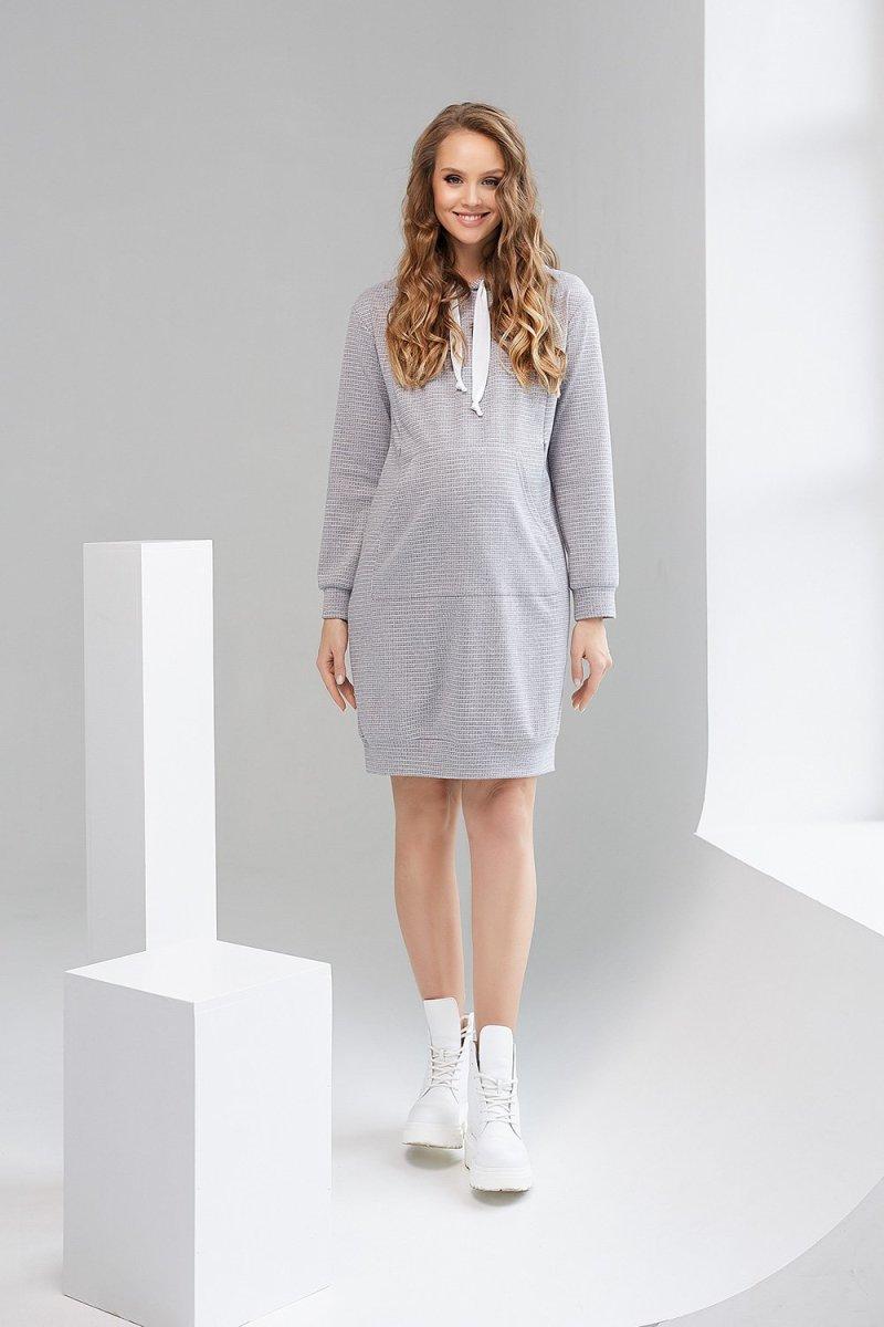 Платье-худи для беременных и кормящих 1996 1316 серый