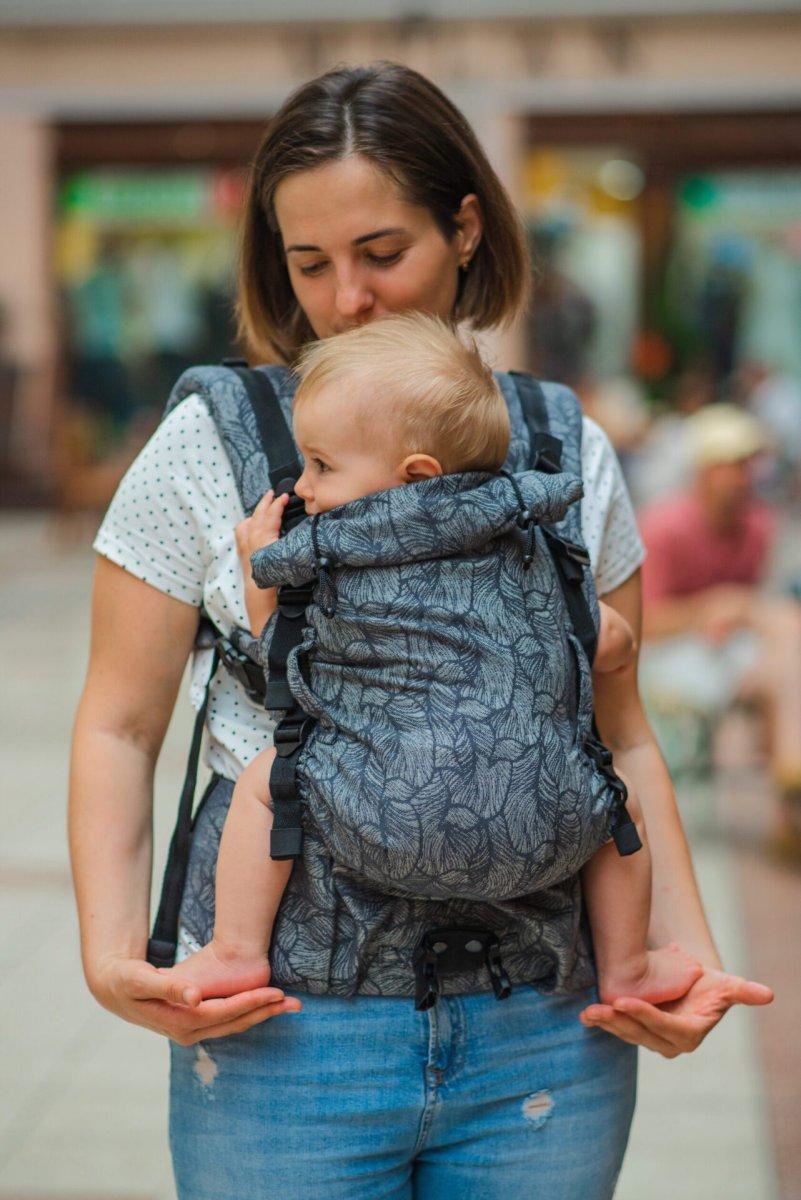Шарфовий ерго рюкзак Adapt сірий Leaf (0-48 міс) з народження