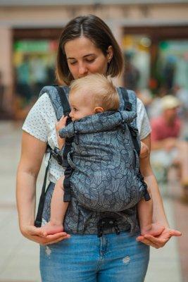 Шарфовый эрго рюкзак Adapt серый Leaf (0-48 мес) с рождения