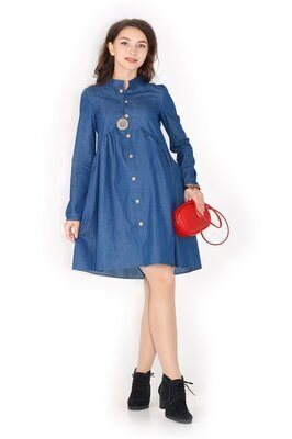 Платье для беременных Гармония жизни (синее)