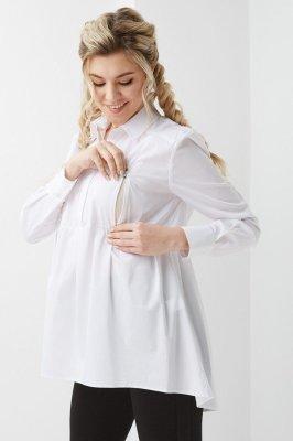 Рубашка для беременных и кормящих 2012 0173 белый