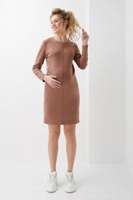 Платье для беременных и кормящих 2020 1314 шоколадное