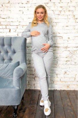 Спортивный костюм для беременных и кормящих 2025 1061 cерый