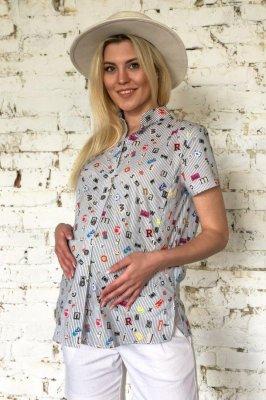Рубашка для беременных и кормящих 2034 0000 цветной принт