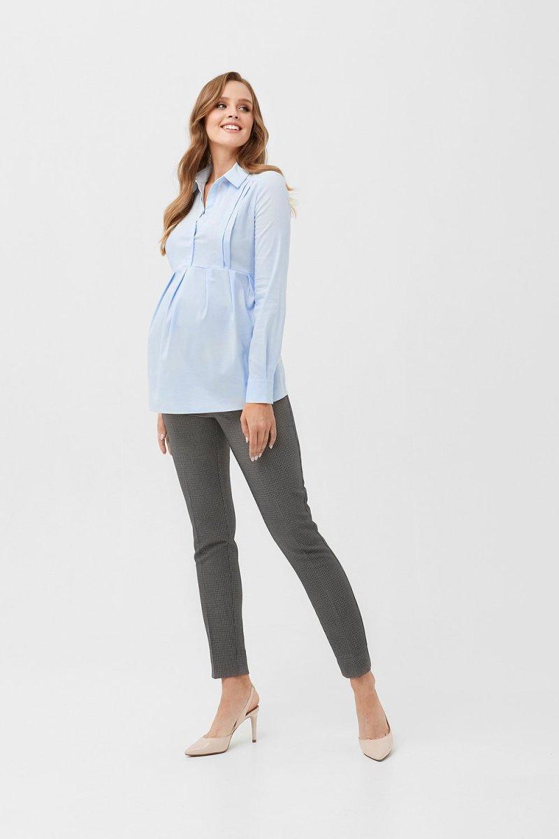Рубашка для беременных и кормящих 2078 0000 голубой