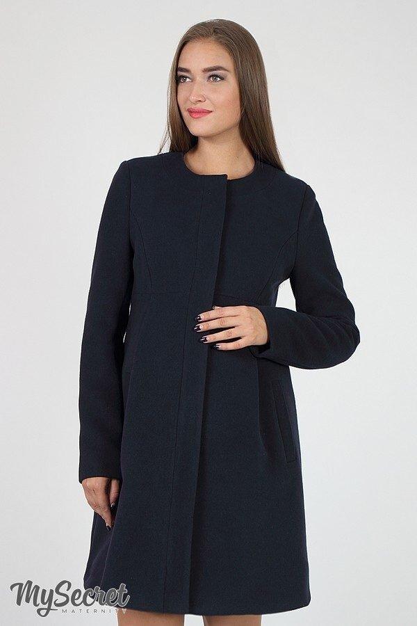 Пальто для вагітних Madeleine темно-сині