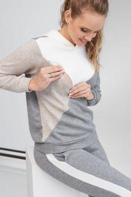 Кофта для беременных и кормящих 2104 1093 серый