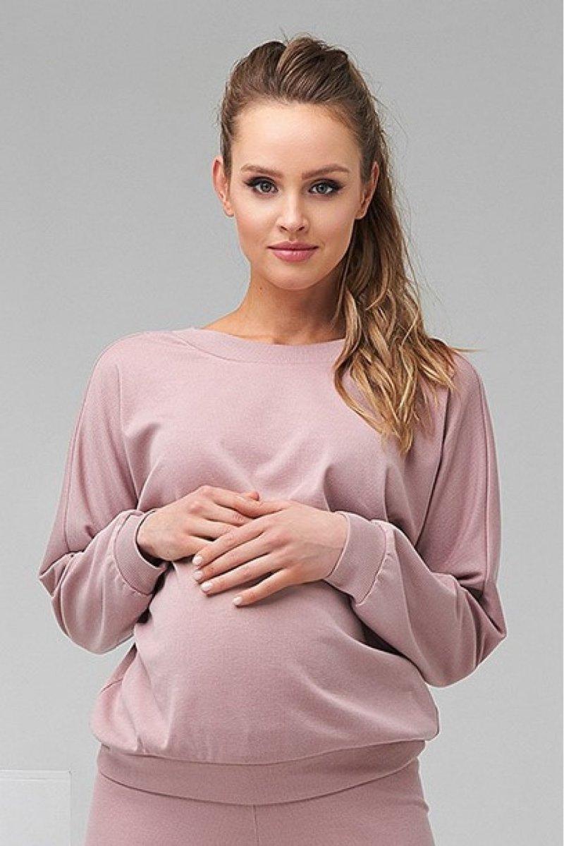 Кофта для беременных и кормящих 2128 1510 пудрово-розовый