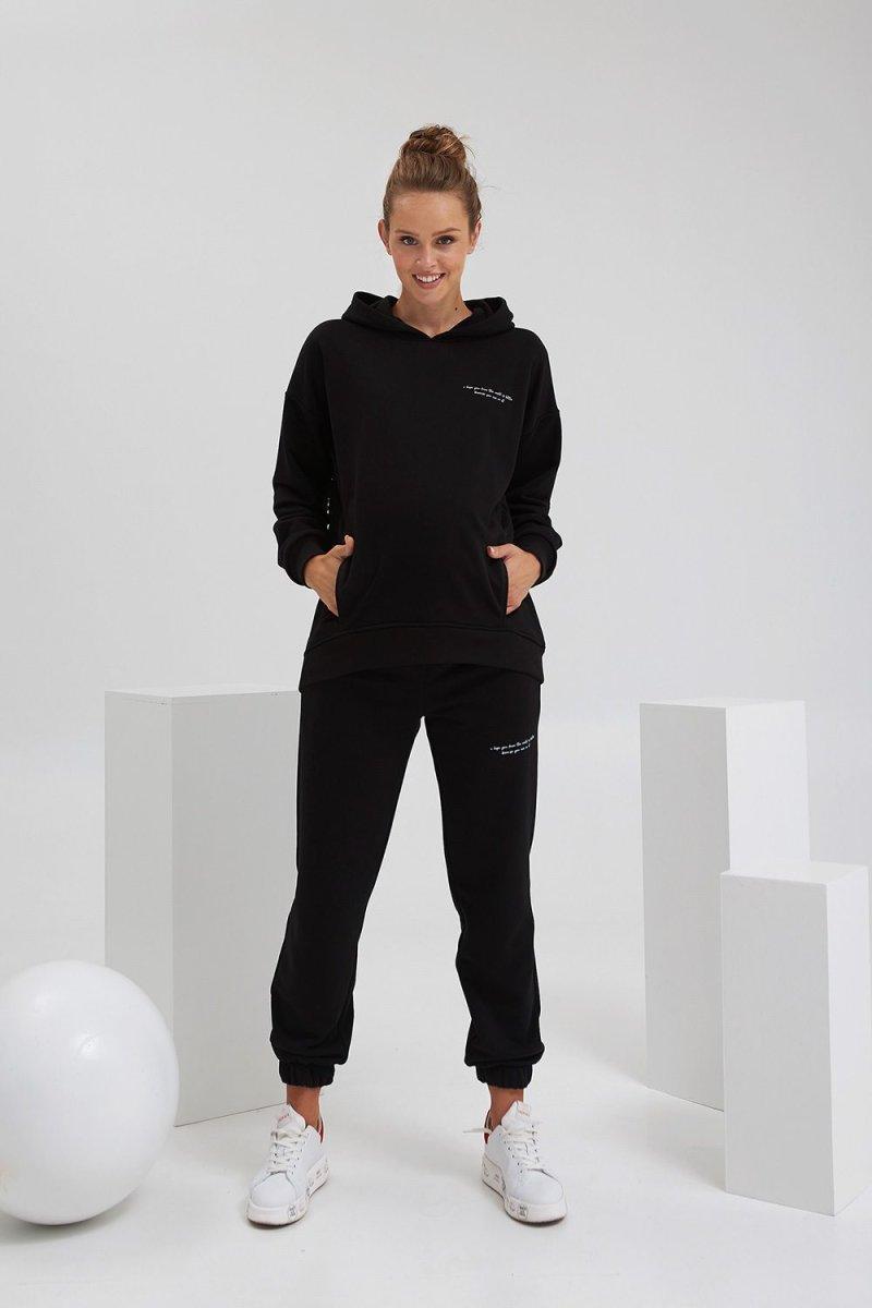Спортивный костюм для беременных и кормящих 2135(72) 1420 черный