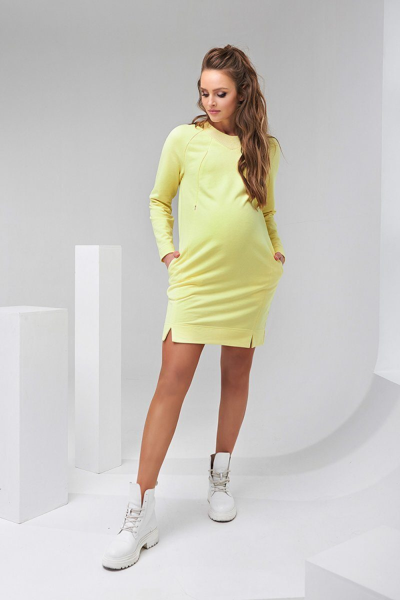 Платье для беременных и кормящих 2142 1462 желтый