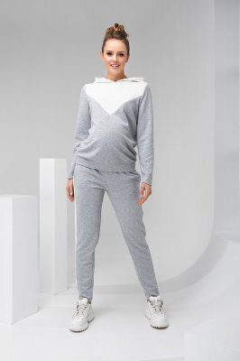 Спортивный костюм для беременных и кормящих 2146(7) 1061 серый