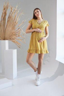 Платье для беременных и кормящих 2152 1527 горчичный
