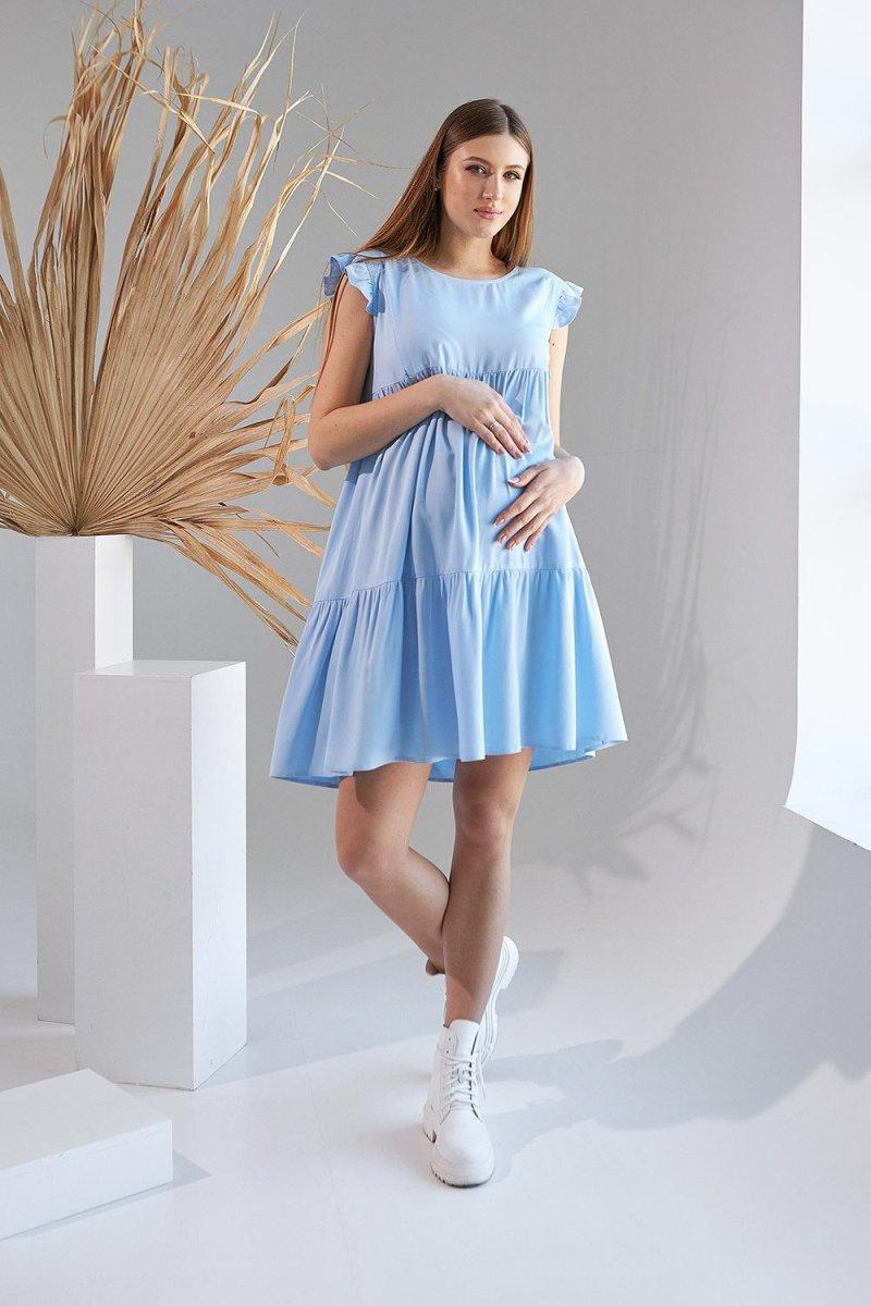 Платье для беременных и кормящих 2155 1508 голубой