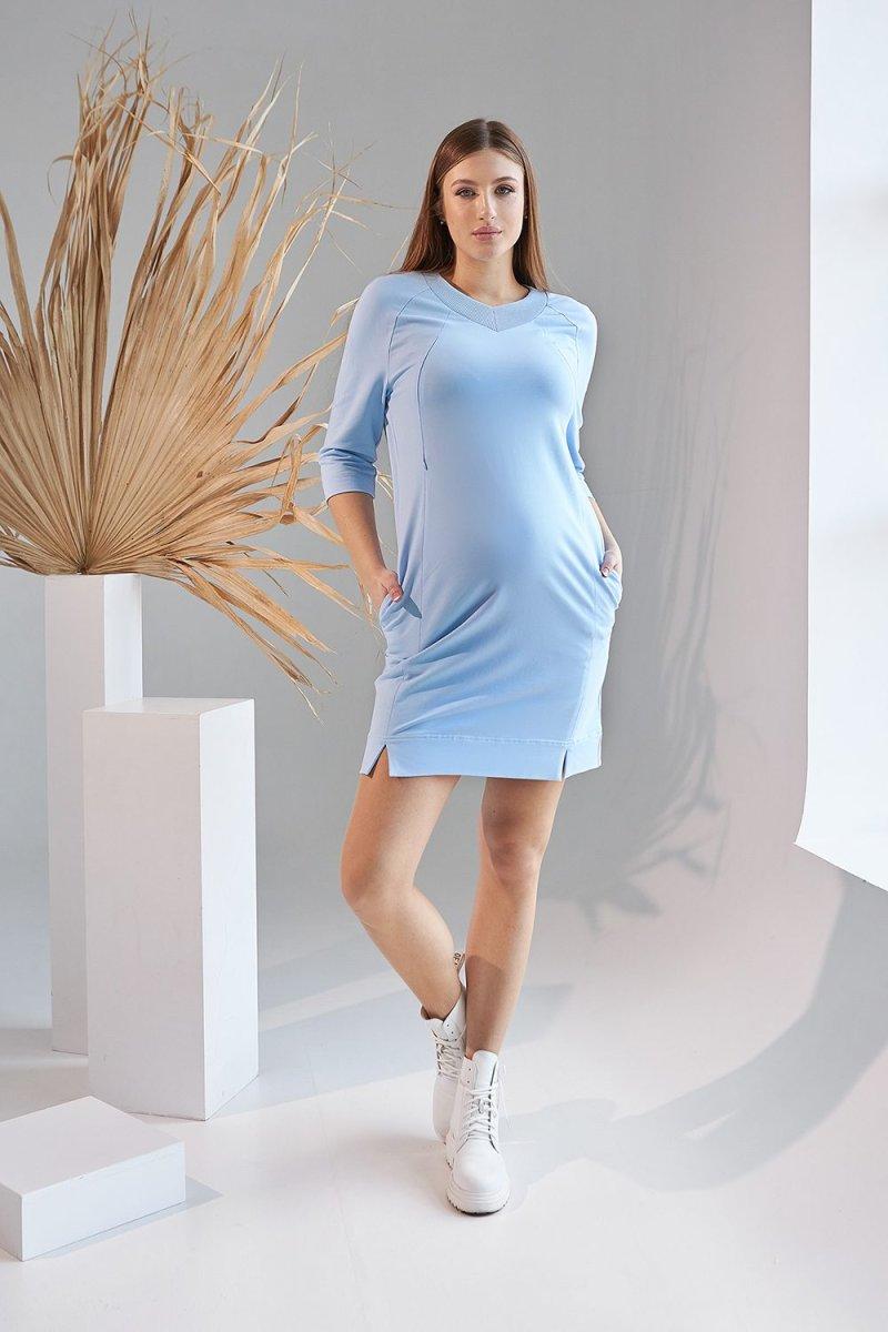 Платье для беременных и кормящих 2162 1521 голубой