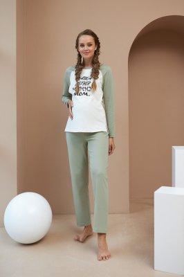 Пижама для беременных и кормящих 2177(80) 1557 фисташковый