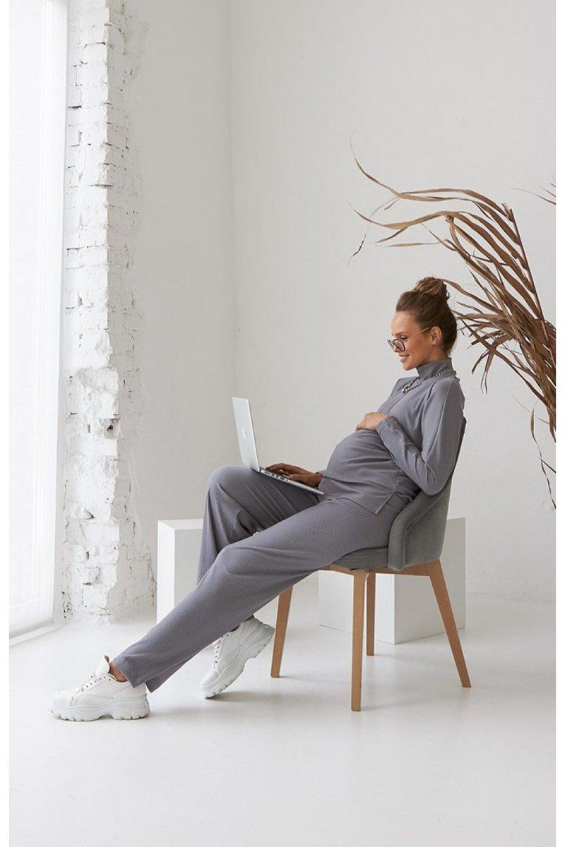 Костюм для беременных 2183(4)-1556 серый