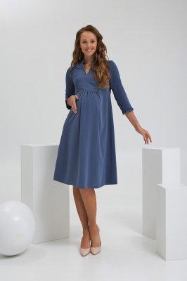 Платье для беременных и кормящих 2189 1568 синий