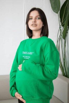 Свитшот для беременных и кормящих 4362114-78 зелёный
