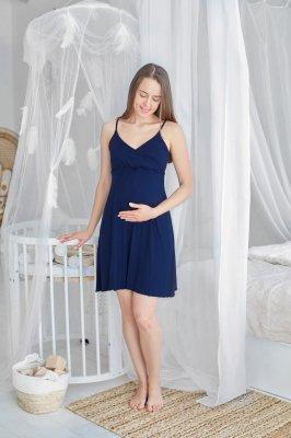 Ночная рубашка для беременных и кормящих Mirelle (темно-синий)