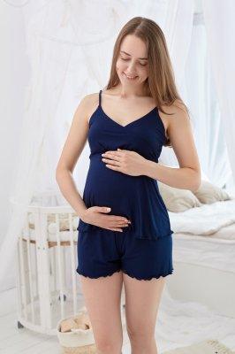 Пижама для беременных и кормящих Mirelle (тёмно-синий)