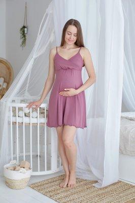 Ночная рубашка для беременных и кормящих Mirelle (фрез)