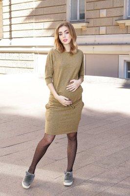 Платье для беременных 4009071 горчичное