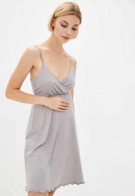 Ночная рубашка для беременных и кормящих Mirelle (дымчатый)