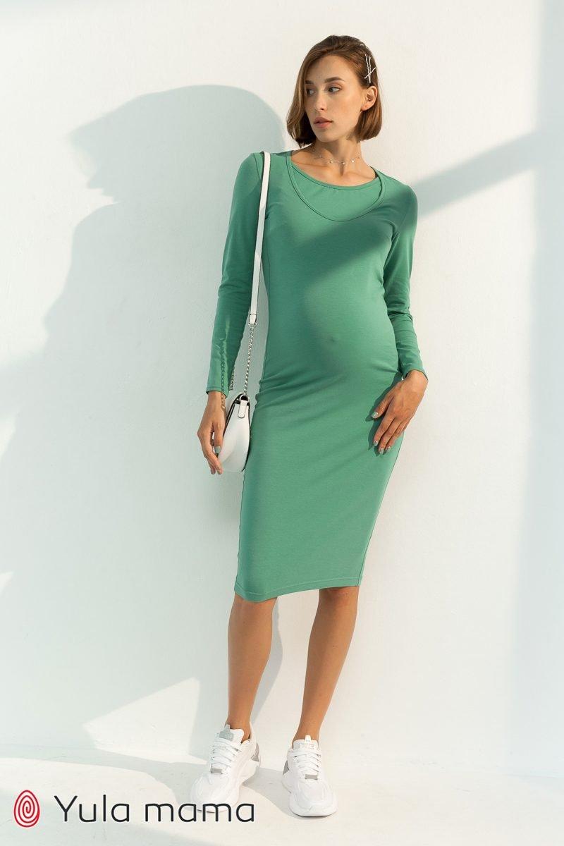 Базове плаття для вагітних і годуючих Lillian фісташка