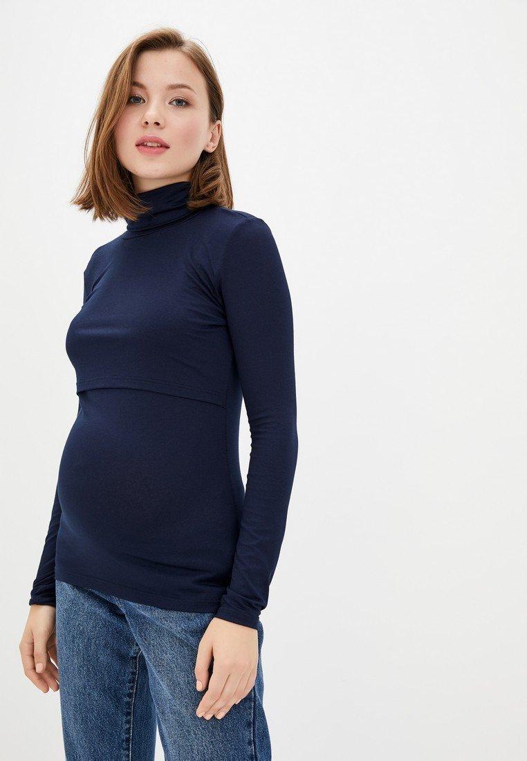 Гольф трикотажний для вагітних і годуючих (темно-синій)