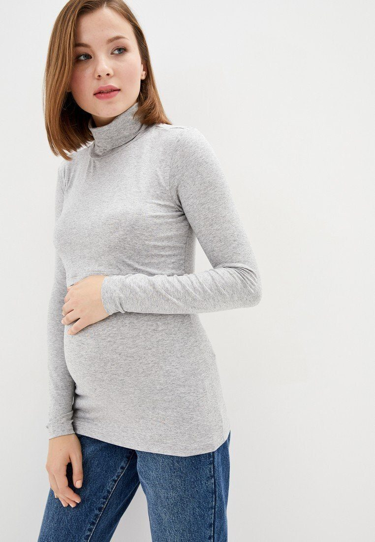 Гольф трикотажный для беременных и кормящих (серый)