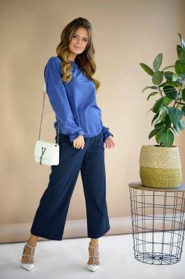 Брюки–клеш для беременных 2746657-6 синий