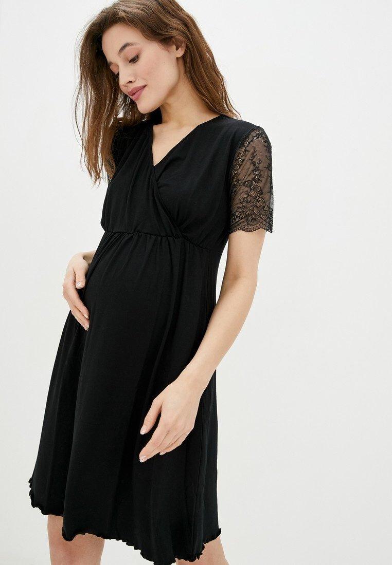 Ночная рубашка для беременных и кормящих Grace (чёрный)