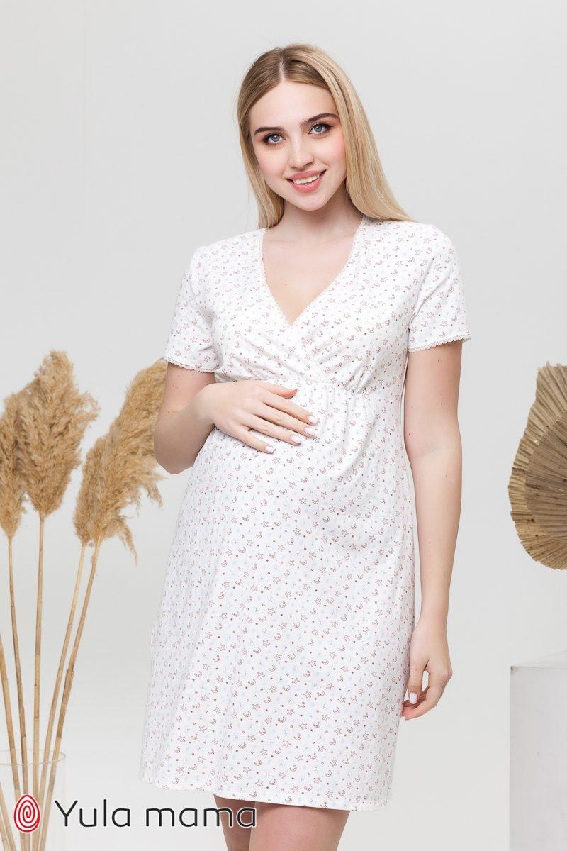 Ночная сорочка для беременных и кормящих Alisa light мишки