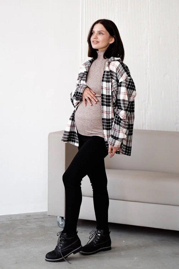 Брюки-леггинсы для беременных на меху 3052137-3 черные