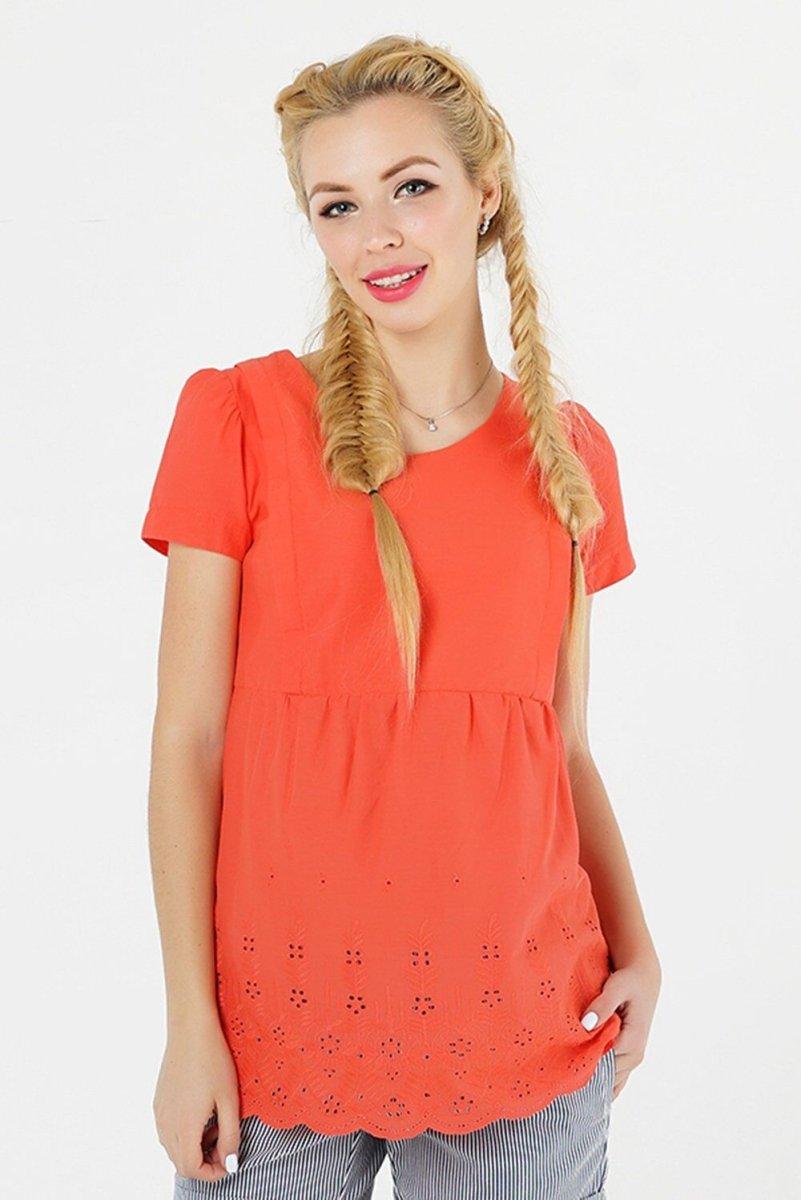 Блуза для вагітних 3093074 кораловий
