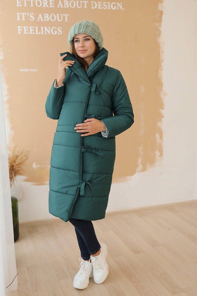 Куртка для беременных 3146274 тёмно-зелёная sale