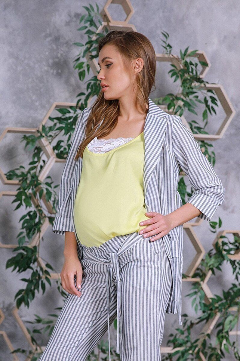Жакет для беременных 3163625 серый